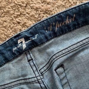 7 For All Mankind Jeans - 7 For All Mankind Flare A Pocket Studded Jeans